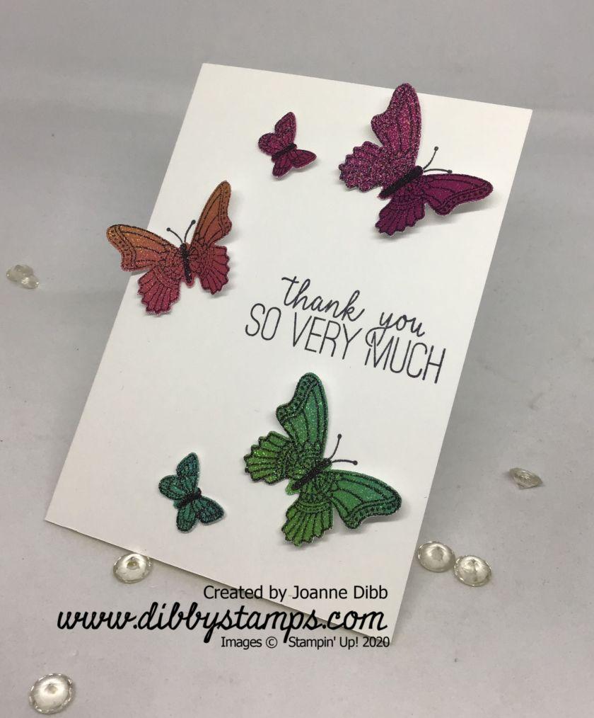 Rainbow Glimmer Butterflies flat