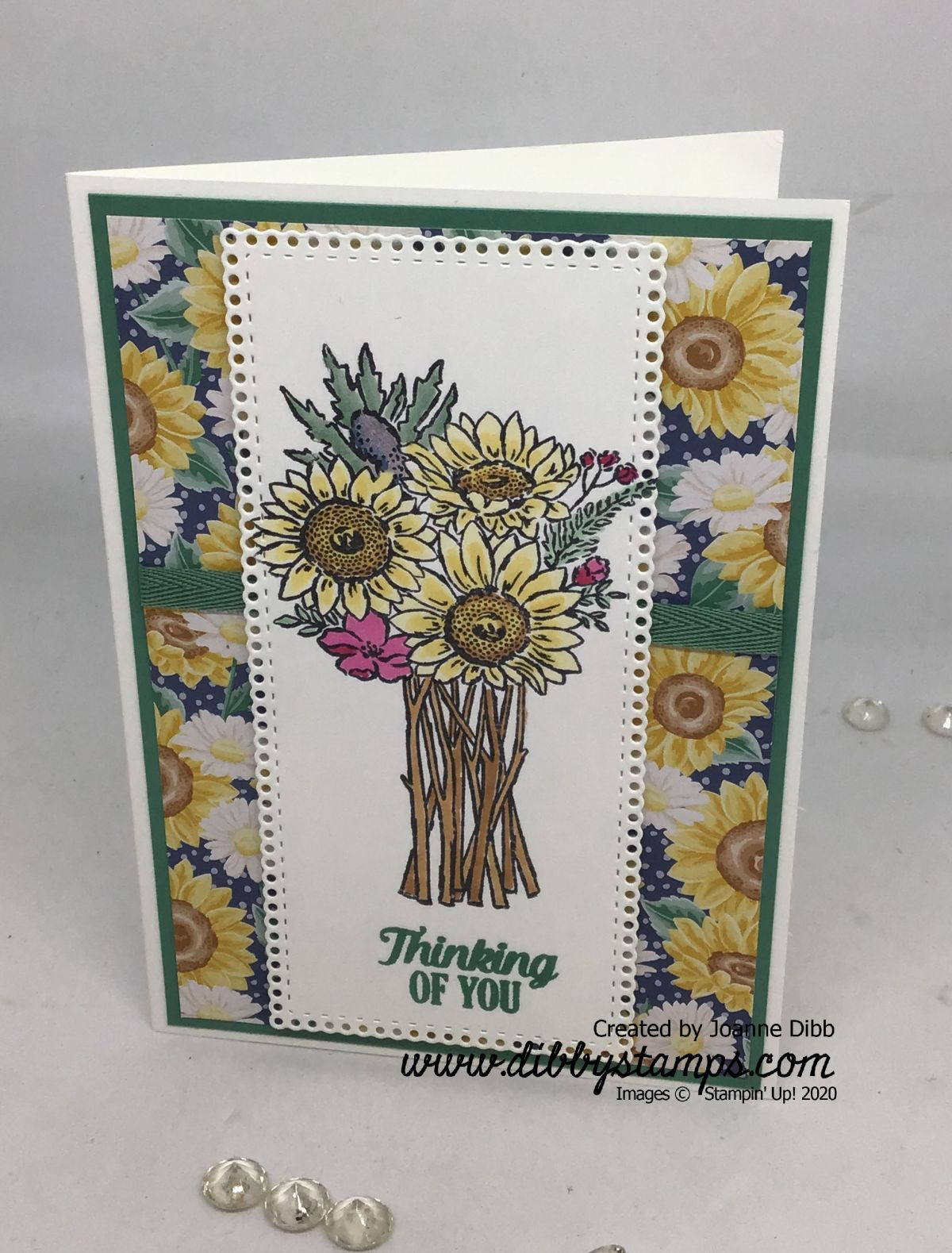 Simple Sunflower Card with Jar of Flowers