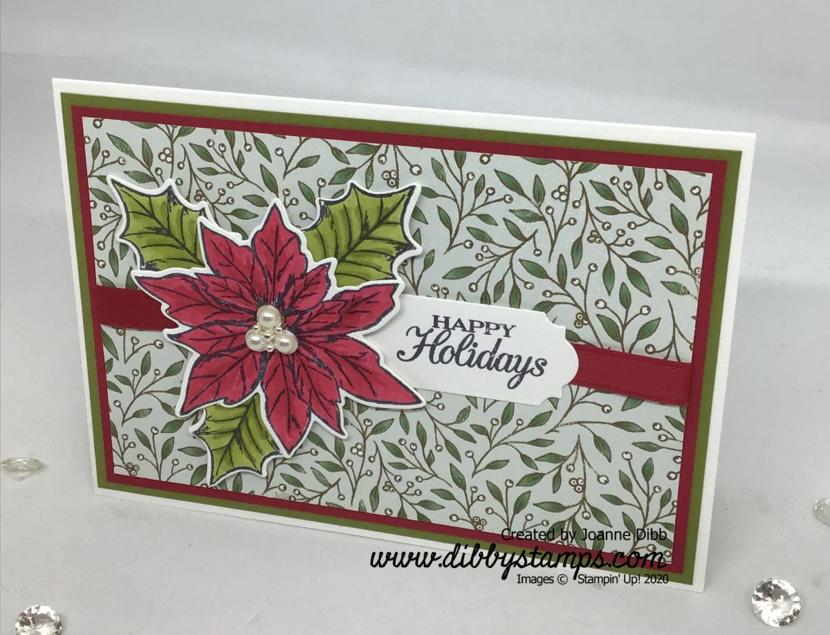Coloured Poinsettia Card