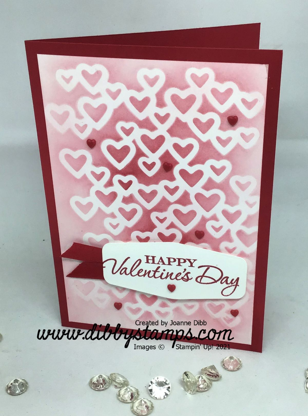 Blended Hearts Valentine's Card