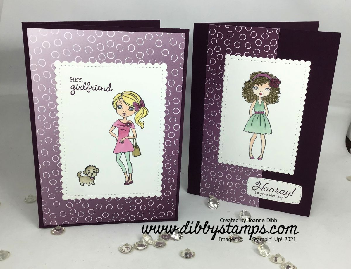 Hey Girlfriend Ombre Card Duo