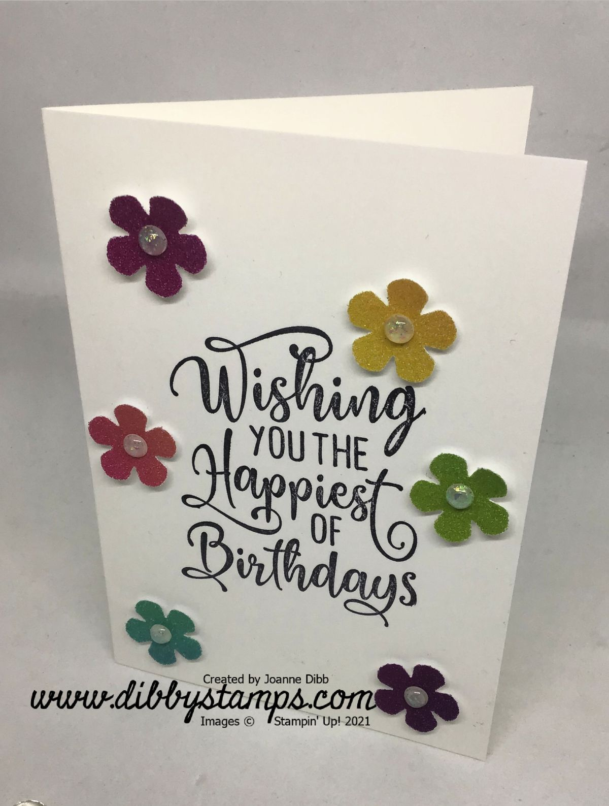 Rainbow Blossoms Card