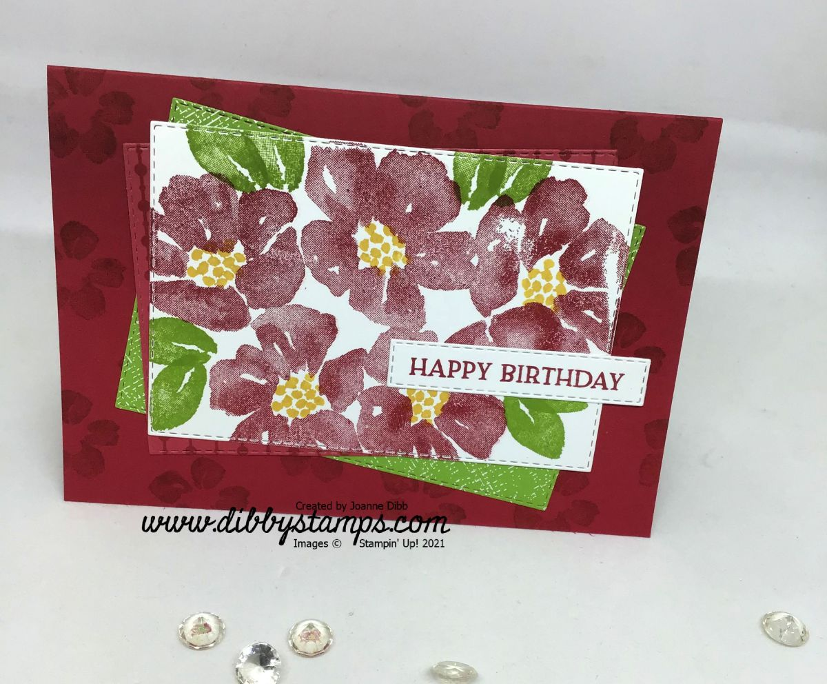 Red Blossoms in Bloom Card
