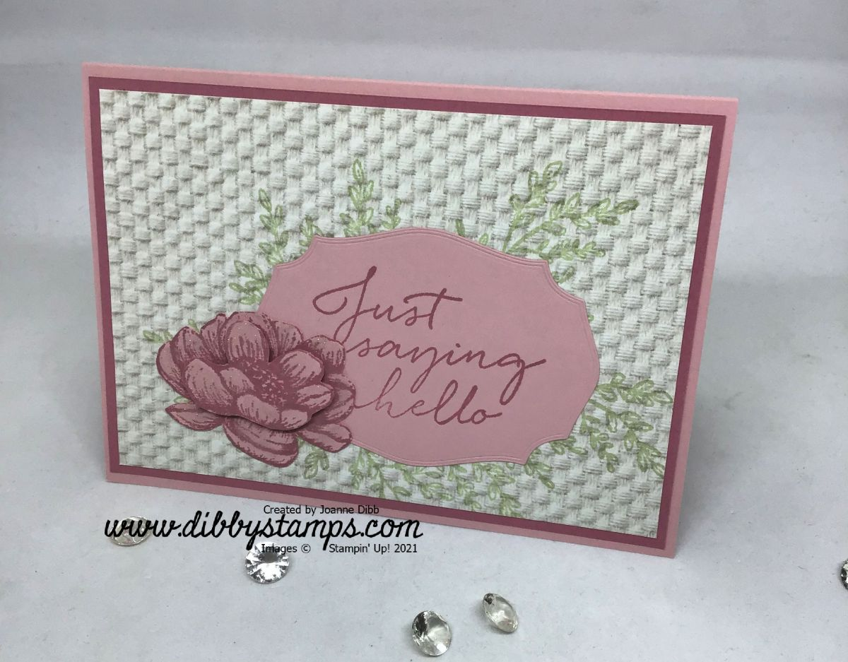 Rococo Rose Tasteful Touches Flower Card