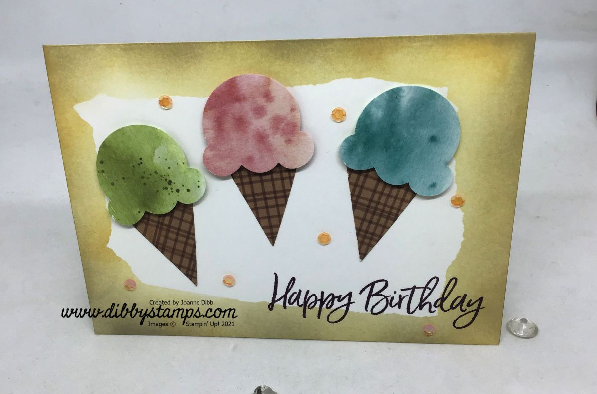 Sandy Beach Ice Cream Card