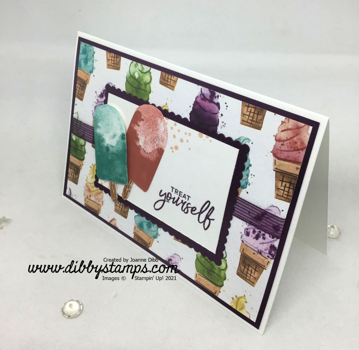 Treat Yourself Lollipop Card