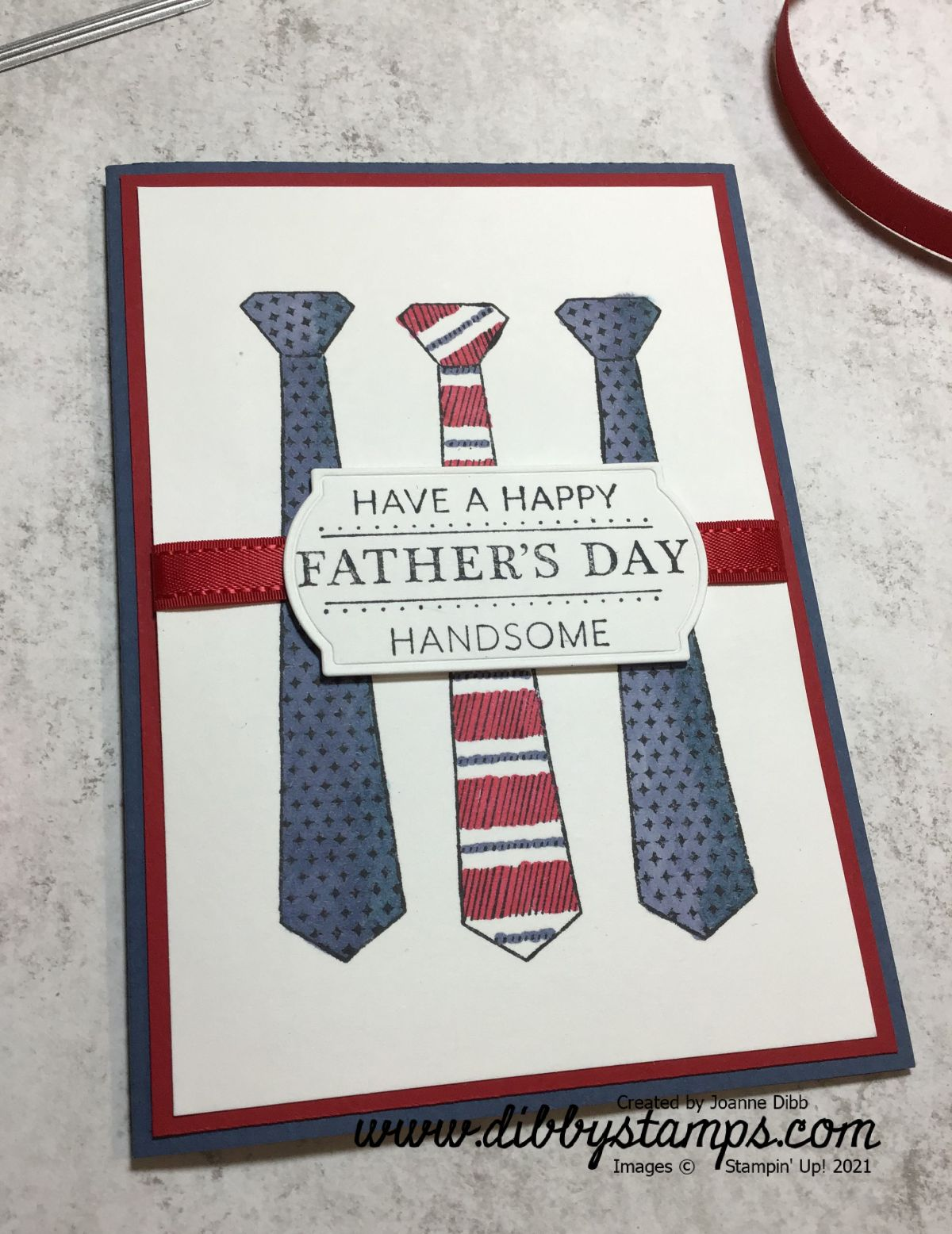 Simple Father's Day Card with HandsomelySuited