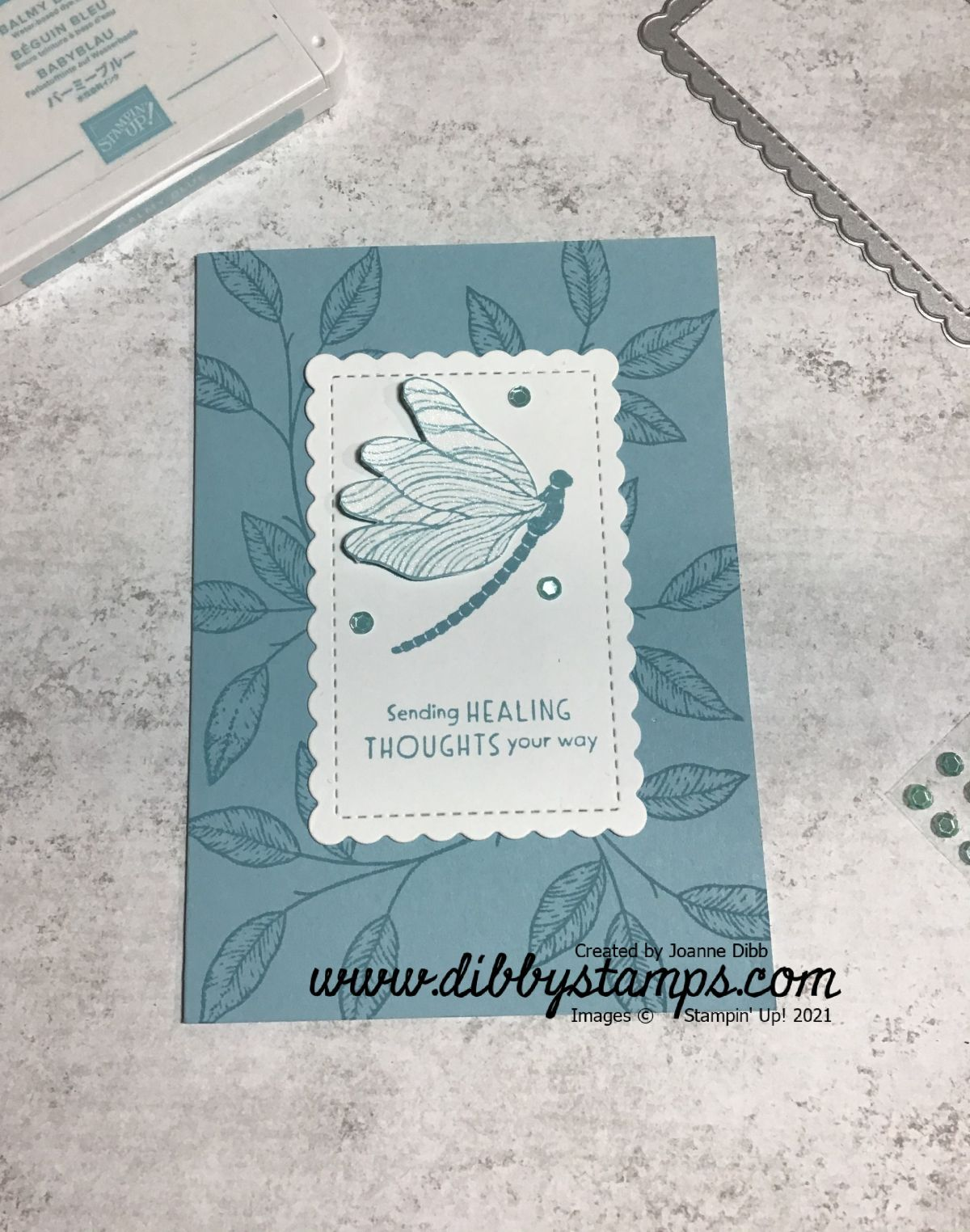 Dragonfly Card with Suite Sampler and InspiredThoughts